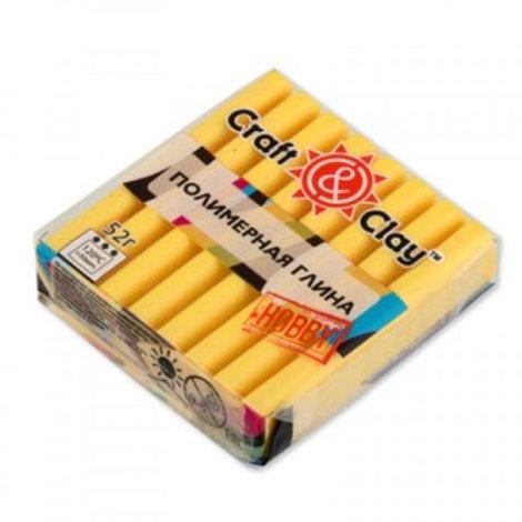 Полимерная глина Craft&Clay цвет: лимонный, 52г
