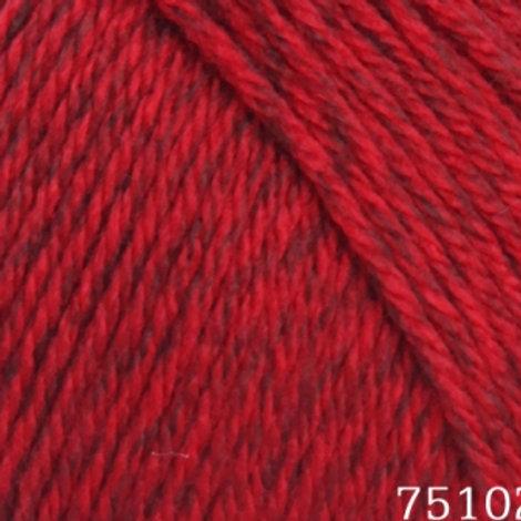 HiMALAYA Everyday New Tweed-75102-красный меланж 100г/200м100% anti-pill