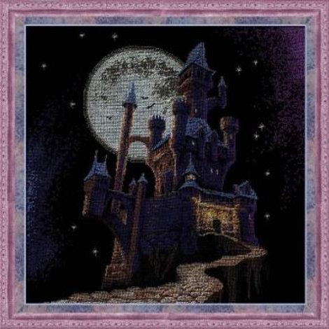 """Вышивка крестом """"Ночной замок"""" 1084 Риолис. Размер: 35х35 см"""