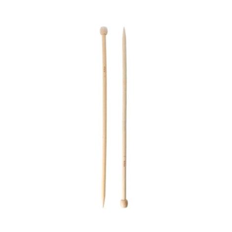 Спицы для вязания прямые (бамбук) 36см, D: 8мм. Гамма