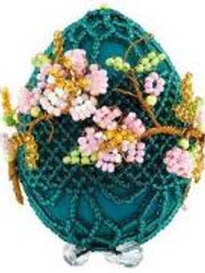 """Набор для плетения из бисера """"Яйцо пасхальное; Цветущая ветвь"""" Б-181 Риолис"""