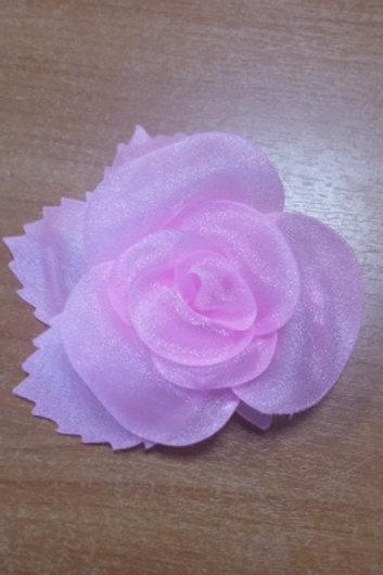 "Украшение ""Роза"" размер: 10х10 см, цвет : розовый, капрон: 100%"