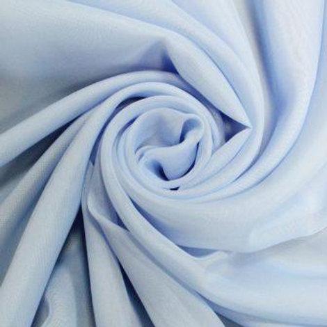 Ткань вуаль цвет: голубой высота: 280см