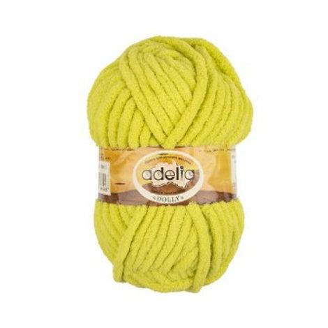 Adelia DOLLY №30 жёлто-зелёный, 100г/40м, 100% полиэстр. Турция