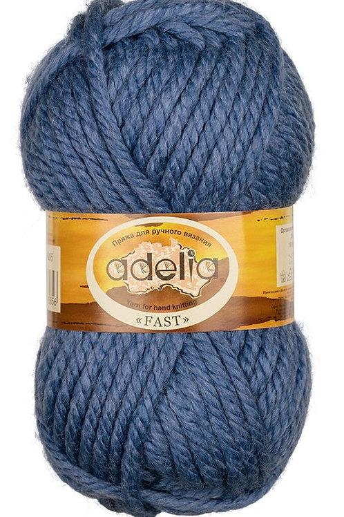 Adelia Fast-06 синий, 150г/45м, 78% акрил. 22% шерсть