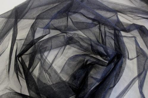 Ткань фатин ширина: 170 см цвет: чёрный полиэстр 100%