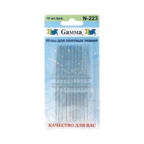 Иглы для плотных тканей гамма n-223