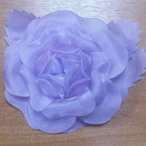 """Украшение """"Роза"""" размер: 14х14 см, цвет: сиреневый, капрон 100%"""