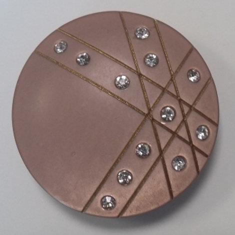 Пуговица D: 38 мм светло- коричневый