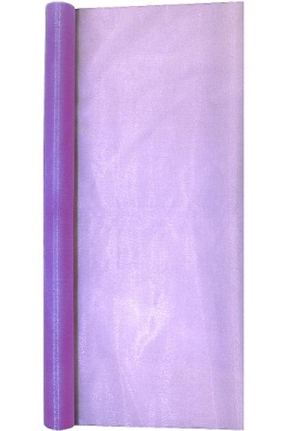 Ткань Органза цвет: лиловый, высота: 2,8м