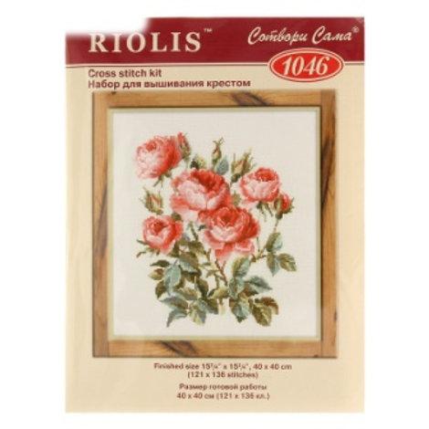 """Вышивка крестом """"Садовые розы"""". 1046 размер готовой работы: 40х40 см. Риолис"""