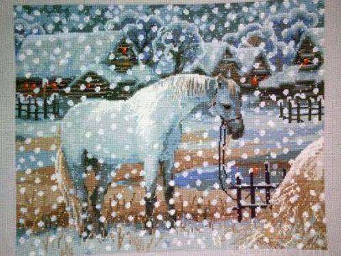 """Вышивка крестом """"Снежная зима"""", 1245"""