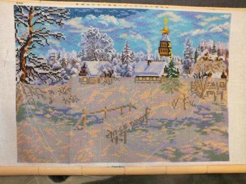 """Вышивка бисером """"Рождественская сказка"""", В-240 размер готовой вышивки: 27х38 см."""