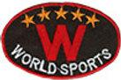 Термоаппликации L074-3 world sports черный 8х5.3 см