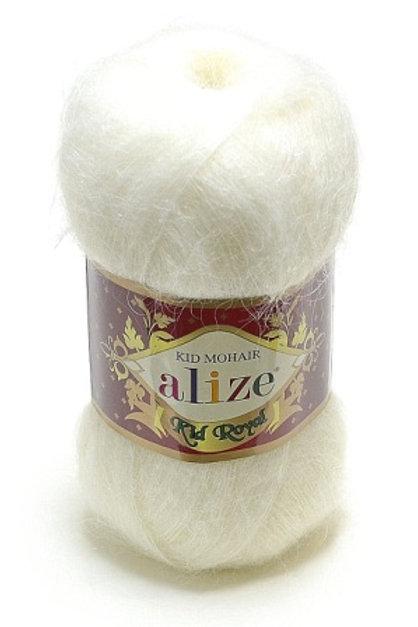 Alize Kid Mohair-55-белый 50г/500м 62% мохер 38% полиамид Турция