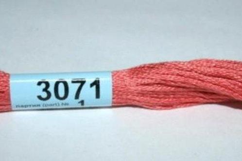 """Мулине """"Gамма"""" №3071 лососевый средний х/б, 8м"""