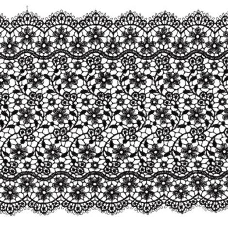 "Гипюр ""GAMMA"" GGM-15001 цвет: чёрный, ширина: 15 мм"