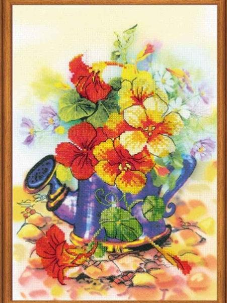 "Частичная вышивка ""Садовая лейка"", 0068 РТ размер: 21х30см. Риолис"