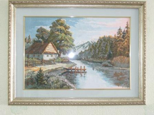"""Вышивка крестом """"Тихая речка"""", 889 размер готовой работы: 38х26см. Риолис"""