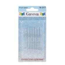 """Иглы для шитья ручные """"Gamma"""" для вышивания двусторонние №24 N-317 в блистере 6"""