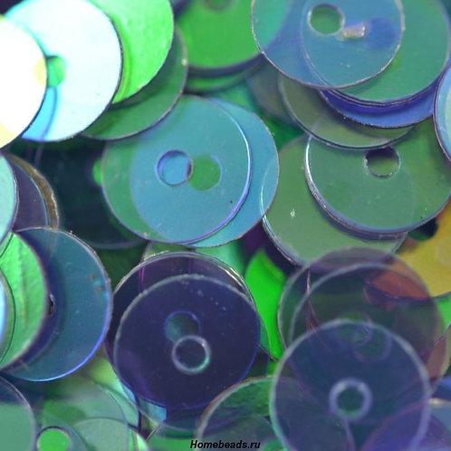Пайетки ZF-08 цвет: №97 зелёный. ZLATKA