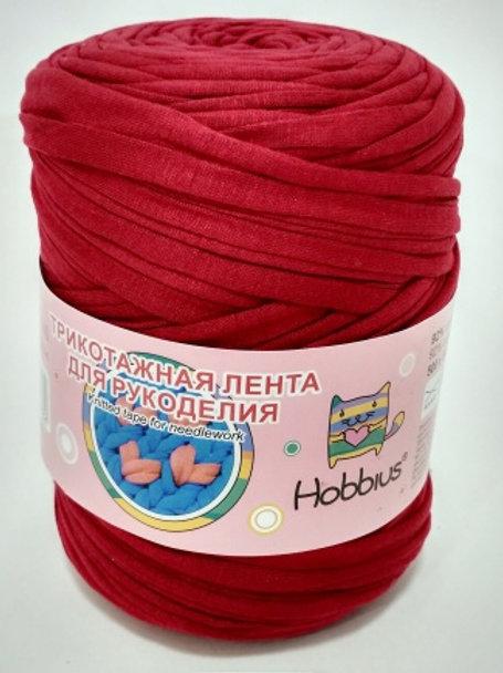 "Hobbius ""Трикотажная лента для рукоделия"" - красный - 500г/100м"