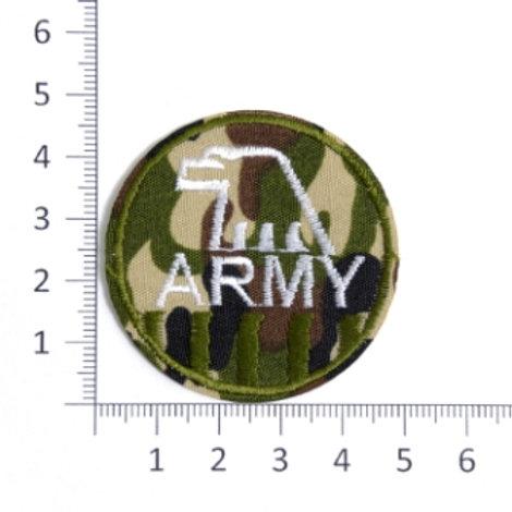 Термоаппликации  L080-1 army зелёный 4.8х4.8 см