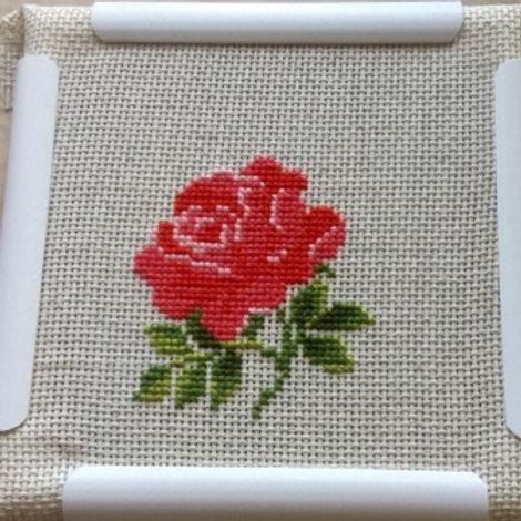 """Вышивка крестом """"Роза"""", 983 размер готовой работы:13х16см. Риолис"""