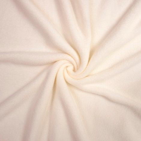 Ткань флис цвет: молочный, ширина: 150 см.
