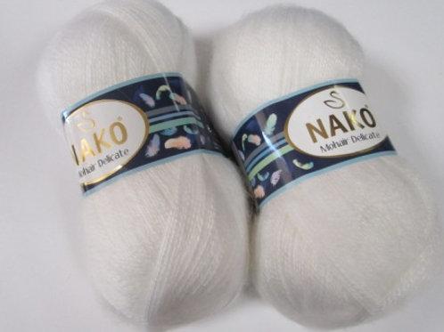 NAKO Mohair Delicate  - 6101- белая 100г/500м