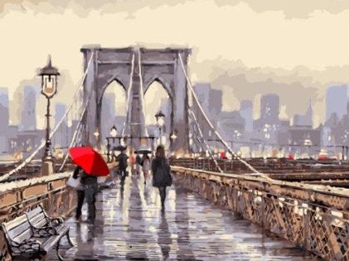Мост во время дождя