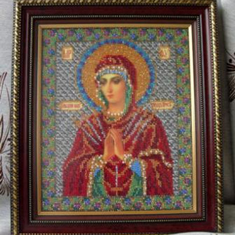 """Вышивка бисером """"Богородица Умягчение злых сердец"""", В-154 размер: 20х23 см. Раду"""