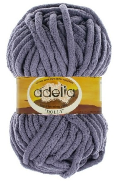 Adelia DOLLY №20 синий, 100г/40м, 100% полиэстр. Турция