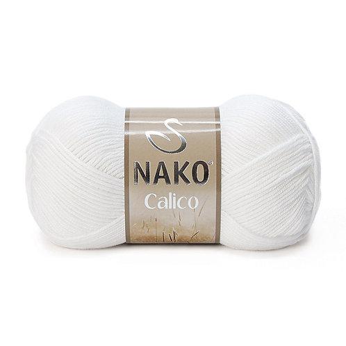 NAKO Calico  - 208 - Белый 100г/245м