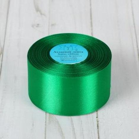 Атласная лента 50мм, цвет: №35(зелёный), Гамма