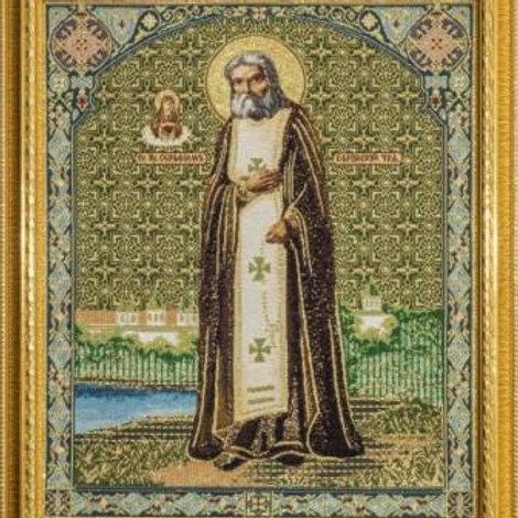 Гобеленовая картина икона Преподобный Серафим Саровский 50х60 см