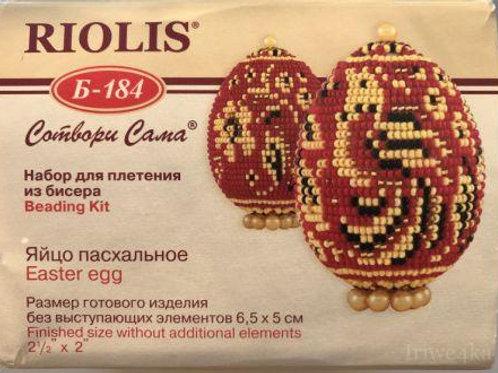 """Набор для плетения из бисера """"Яйцо пасхальное; Хохлома"""" Б-171 Риолис"""