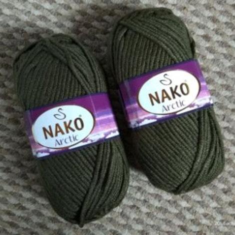 NAKO Аrctik -6078-хаки 100г/100м  20%шерсть 80%акрил