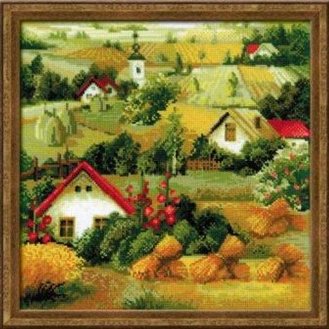 """Вышивка крестом """"Сербский пейзаж"""", 1569"""