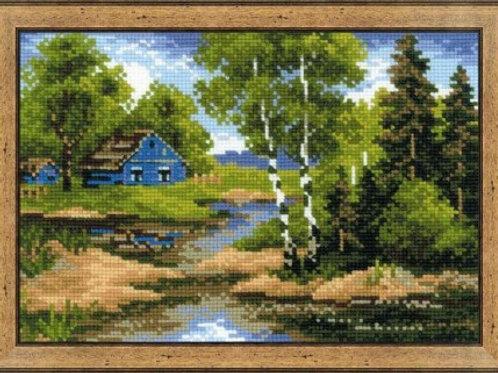 """Вышивка крестом """"Летний домик"""", 1113 размер: 21х15 см. Риолис"""