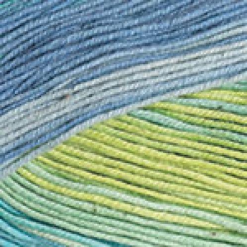 YarnArt ideal crazy  - 4201 - салатовый, голубой, синий 50г/170м