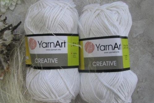 YarnArt creative  - 220 - белый 50г/85м