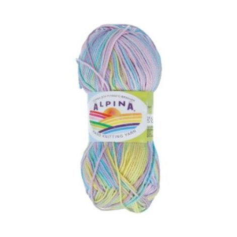 """Alpina """"Katrin"""" - 6794 - желтый/голубой/св.фиолетовый 50г/140м"""