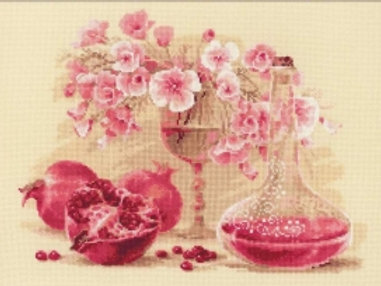 """Набор для вышивания """"Розовый гранат"""", 1618,  40x30"""