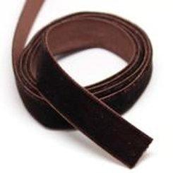 Бархатная лента VR-20 коричневый 20мм BLITZ