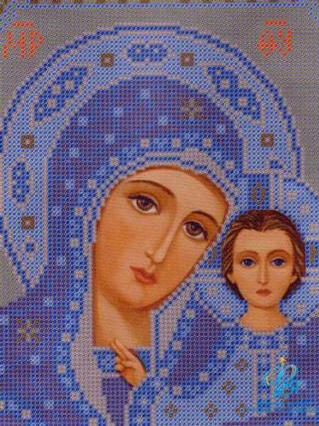 Богородица Казанская Рисунок на ткани для вышивания бисером