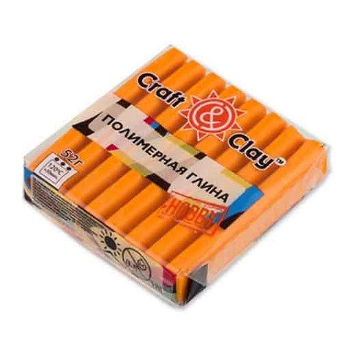 Полимерная глина Craft&Clay цвет: оранжевый, 52г