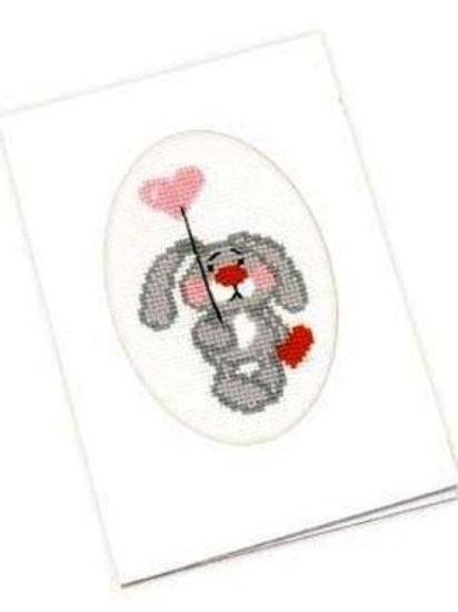 "Вышивка крестом ""Зайка на шарике"", 936 размер: 11,8х16,4 см. Риолис"