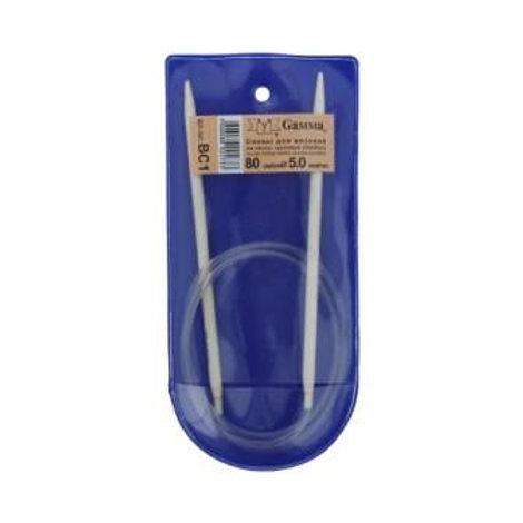 Спицы для вязания круговые металлические KNC 80 см, d 5 мм, Gамма
