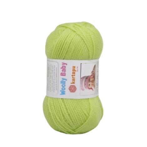 Kartopu Wooly Baby-439-салатовый 50г/148м 50% акрил 30% шерсть 20% полиамидТу